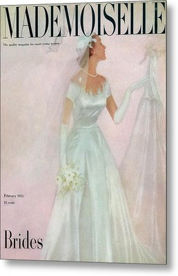 A Bride Wearing A Mindelle Dress Metal Print