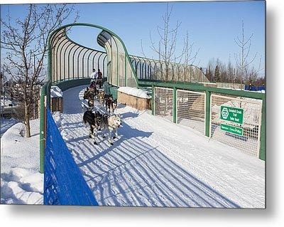 A Bridge In The Iditarod  Metal Print by Tim Grams
