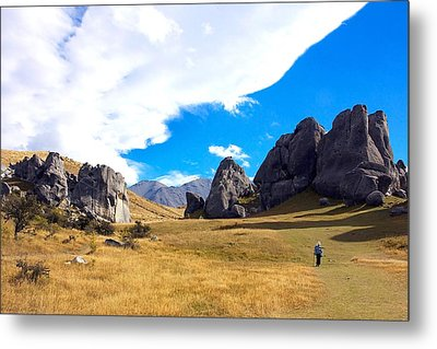 Metal Print featuring the photograph A Castle Hill Walk by Stuart Litoff