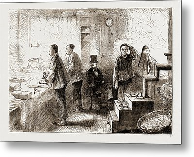 A Chinese Laundry In Philadelphia, 1876 Metal Print by Litz Collection