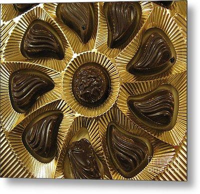 A Chocolate Sun Metal Print by Ausra Huntington nee Paulauskaite