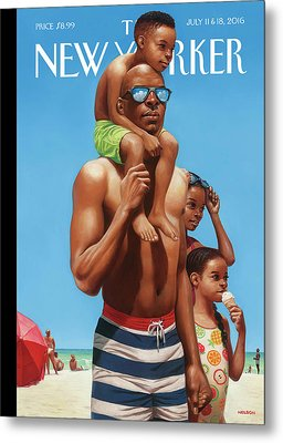 A Day At The Beach Metal Print by Kadir Nelson