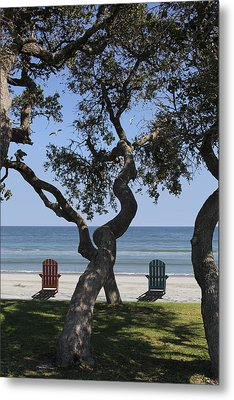 A Day At The Beach Metal Print by Mike McGlothlen