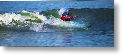 Metal Print featuring the digital art A Day Out With The Kayak. by Timothy Hack
