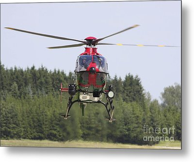 A Eurocopter Ec135 Used By German Metal Print by Timm Ziegenthaler