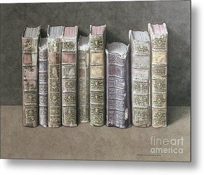 A Fine Library Metal Print by Jonathan Wolstenholme