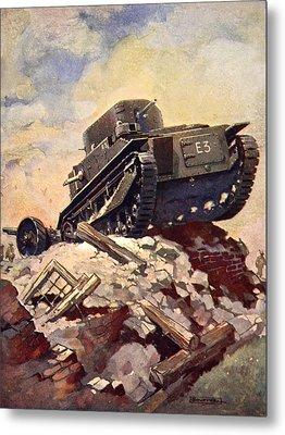 A First World War Tank Metal Print by J. Allen Shuffrey