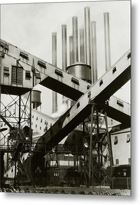 A Ford Automobile Factory Metal Print by Charles Sheeler