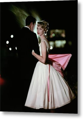 A Formally Dressed Couple Metal Print by Sante Forlano