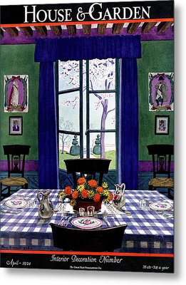 A French Provincial Dining Room Metal Print by Pierre Brissaud