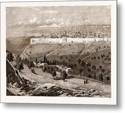 A General View Of The City Of Jerusalem Metal Print