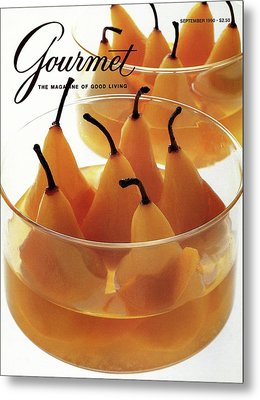 A Gourmet Cover Of Baked Pears Metal Print