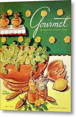 A Gourmet Cover Of Dandelion Salad Metal Print