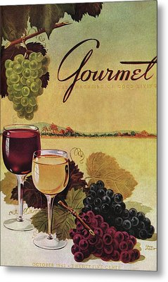 A Gourmet Cover Of Wine Metal Print by Henry Stahlhut