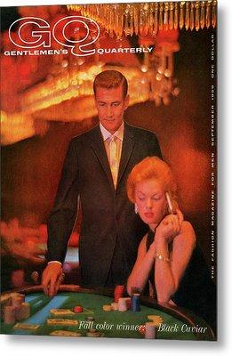 A Gq Cover Of Models At Casino De Capri In Havana Metal Print by Richard Waite