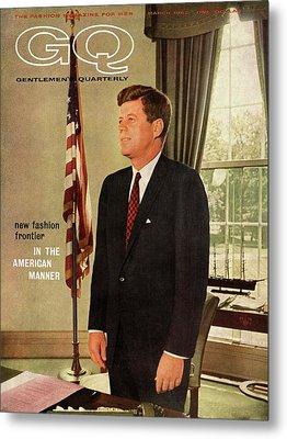 A Gq Cover Of President John F. Kennedy Metal Print by David Drew Zingg