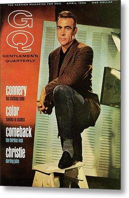 A Gq Cover Of Sean Connery Metal Print by David Sutton