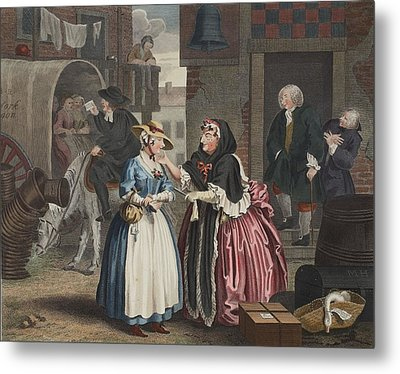 A Harlots Progress, Plate I Metal Print by William Hogarth