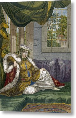 A Jewish Woman In Ceremonial Dress Metal Print by French School