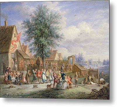 A Kermesse On St. Georges Day Metal Print by Angel-Alexio Michaut