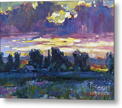 A Late Afternoon Sky Plein Air Metal Print