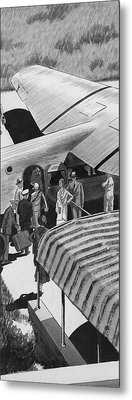 A Lindbergh Airplane In The Arizona Desert Metal Print by Lemon