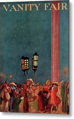 A Magazine Cover For Vanity Fair Of A Carnival Metal Print by Raymond Crawford Ewer