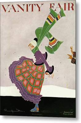 A Magazine Cover For Vanity Fair Of A Woman Metal Print by Ethel Rundquist