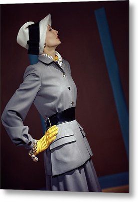 A Model In A Vogue Couturier Suit Metal Print by Horst P. Horst