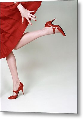 A Model Wearing Fleming-joffe Shoes Metal Print by Richard Rutledge