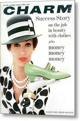 A Model With A Margaret Jerrold Kidskin Shoe Metal Print
