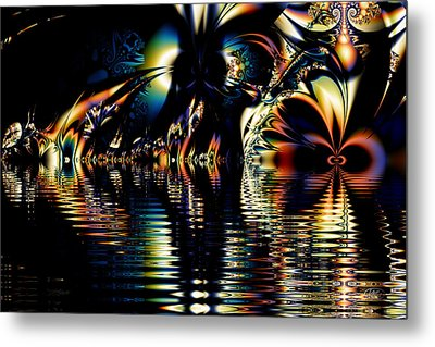 A Night On The Water Metal Print
