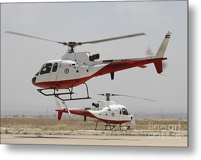 A Pair Of As350 Squirrel Helicopters Metal Print by Ofer Zidon