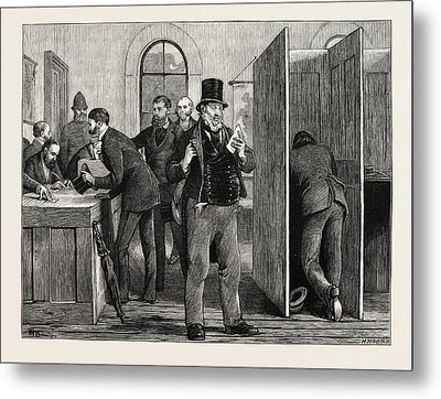 A Parliamentary Election The Nineteenth Century Voting Metal Print by English School