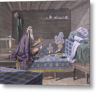 A Persian Doing His Morning Prayers Metal Print by E. Karnejeff