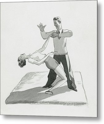 A Physical Instructor Giving A Lesson Metal Print