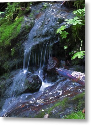 Metal Print featuring the digital art A Picture Of Fresh Spring Run Off. by Timothy Hack