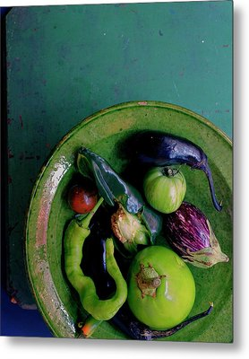 A Plate Of Vegetables Metal Print by Romulo Yanes