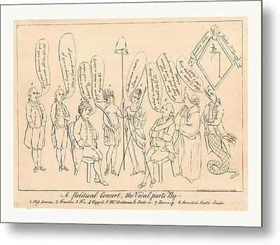 A Political Concert The Vocal Parts By 1. Miss America Metal Print by English School