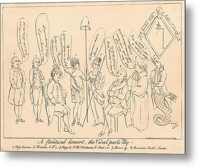 A Political Concert The Vocal Parts By 1. Miss America Metal Print by Litz Collection