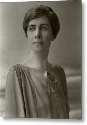 A Portrait Of Grace Coolidge Metal Print by Nickolas Muray