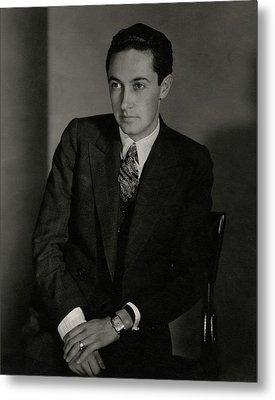 A Portrait Of Irving Grant Thalberg Metal Print