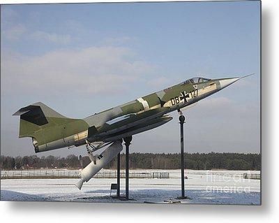 A Preserved F-104g Starfighter Metal Print by Timm Ziegenthaler