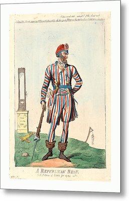 A Republican Beau, A Picture Of Paris For 1794, Cruikshank Metal Print by Litz Collection