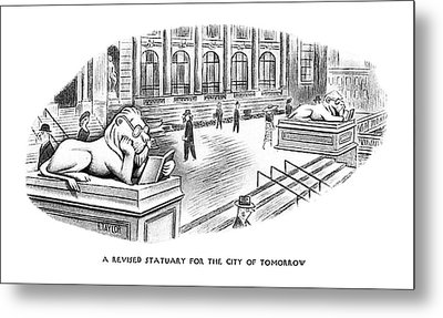 A Revised Statuary For The City Of Tomorrow Metal Print by Richard Taylor