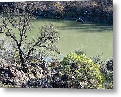 A River In Wintertime Metal Print by Lula Adams