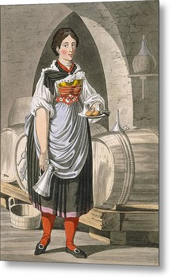 A Serving Girl At An Inn Metal Print