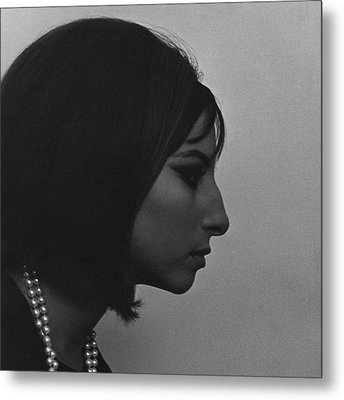 A Side View Of Barbra Streisand Metal Print by Cecil Beaton