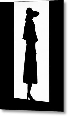 A Silhouetted Woman Metal Print