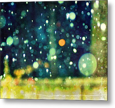 A Snowy Night Metal Print by Suzanne Barber
